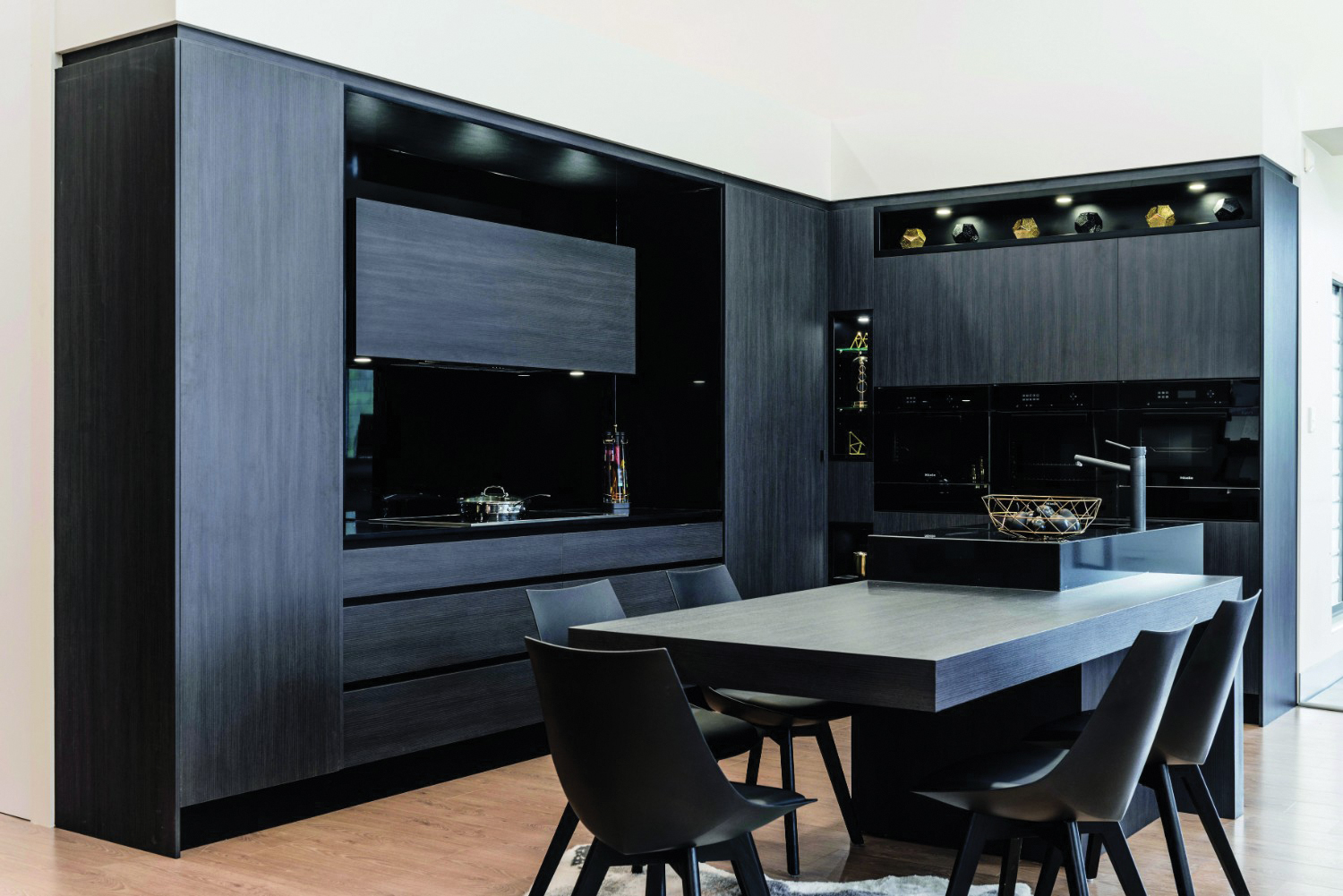 Glamour meets style: a tale of two kitchens