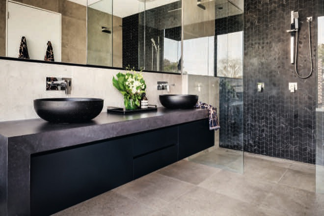 Rick Mclean's sleek industrial luxe ensuite