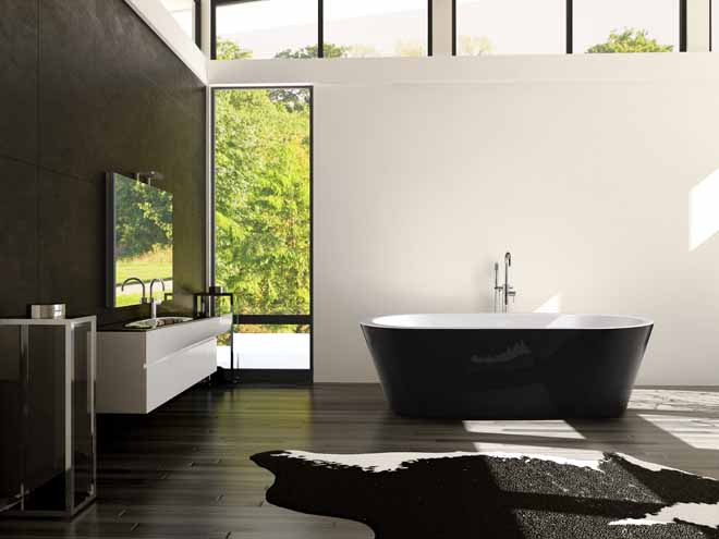 On-trend: Decina's black magic bathware