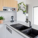 Affordable chic: a streamlined, modern kitchen on a budget