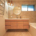 Updated bathroom: naturally stylish