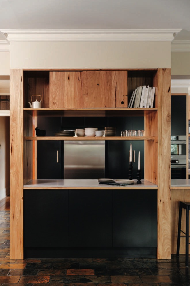 Warm and tasteful: a warm, earthy timber kitchen design