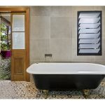 Old meets new in bathroom by Designline