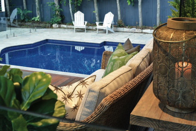 Subtropical Oasis: a serene outdoor sanctuary