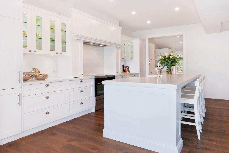light and bright  traditional english meets australian coastal kitchen