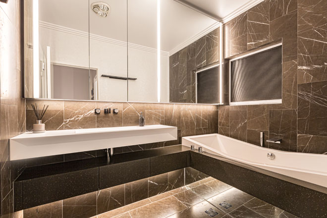 Glamorous luxury with Staron Solid Surfaces
