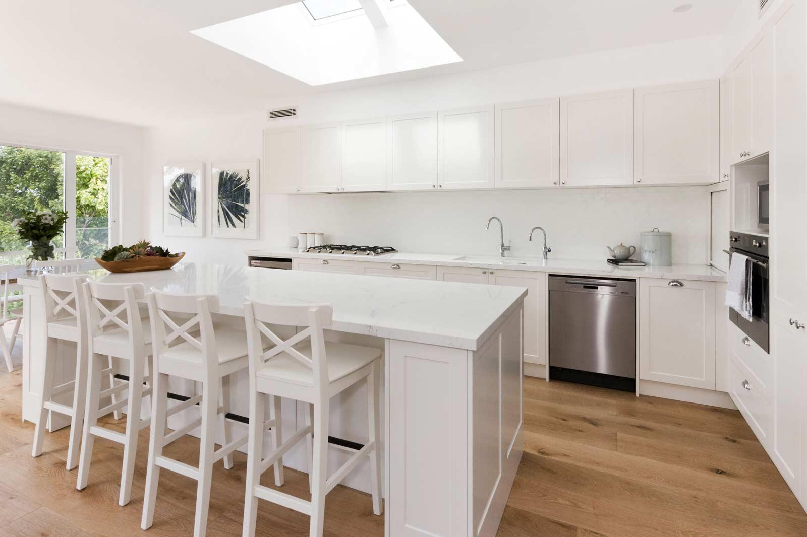 Fisher And Paykel Miele Quantum Quartz Michelangelo Franke Sink White Hamptons Kitchen Naremburn 5