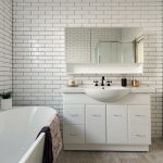A timely transformation: a fusion traditional-modern bathroom