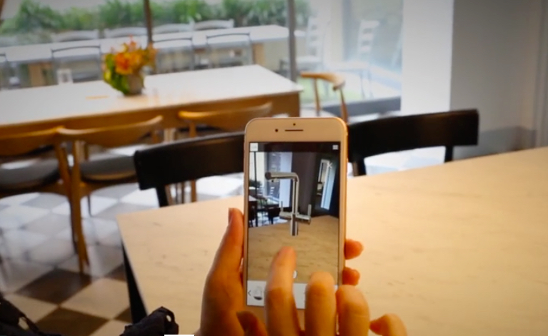 Kitchen design app: MultiTap's Augmented Reality tool