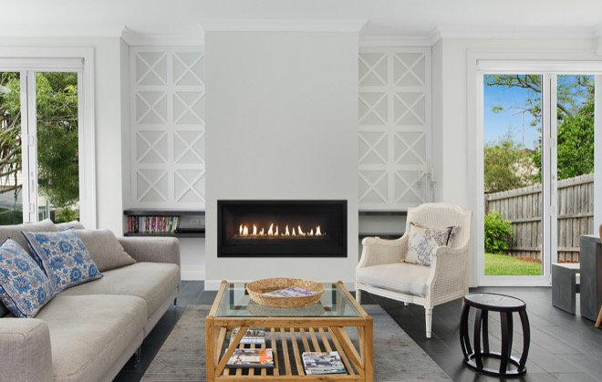 Turn your house into a home with a linear gas fireplace