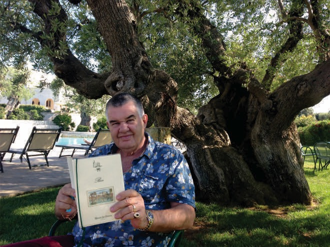 PGT-Reclaimed S Founder And Owner Ian Burden Under Olive Tree In Puglia, Which Inspired A Number Of Pieces And Finishes