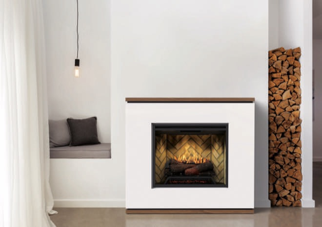 The future of heating is here: Strata fireplace plus Revillusion