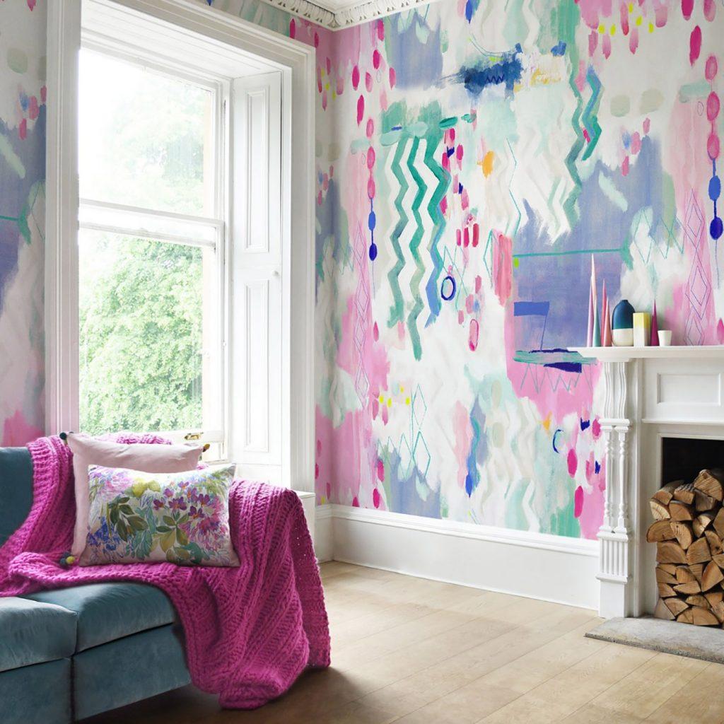 Bluebell Grey Medina Wallpaper Full Room 1500 2