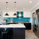 This contemporary kitchen is best in blue