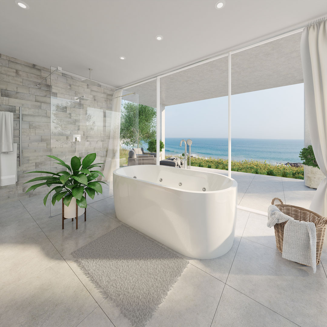 A modern and sensational spa bath