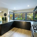 A bold contrast in a modern kitchen