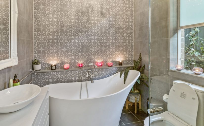 The sophisticated splendour of this bathroom