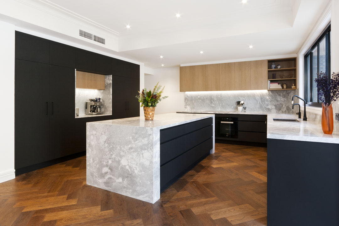 Luxe living in this modern kitchen