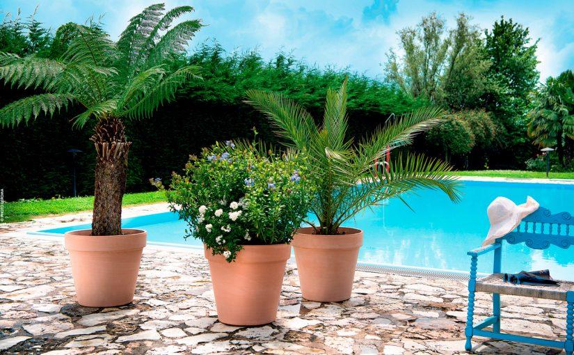 Italian Terracotta White Garden Vaso Magno 60 Cm