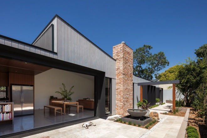warm house with a japanese design
