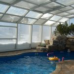 Designer enclosures for year-round pool use