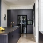 A terrific kitchen transformation of this historic brick house