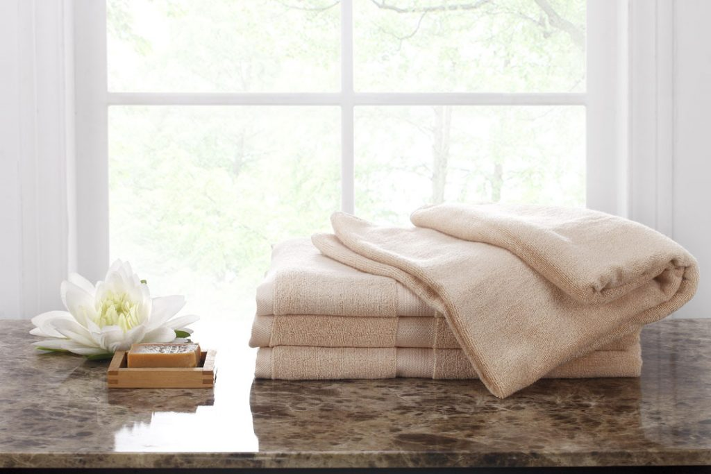 Ovela Set Of 4 Bamboo Cotton Luxury Bath Sheets (beige)