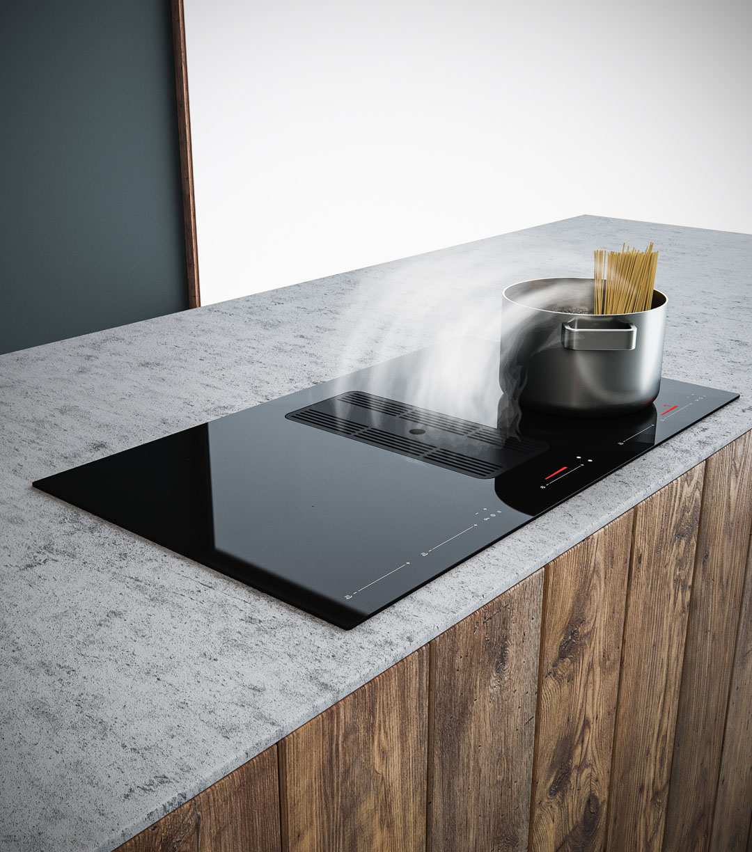 A downdraft rangehood that offers integrated excellence