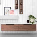 European-inspired bathroom storage