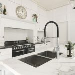 Hand-painted shaker: a detailed kitchen design