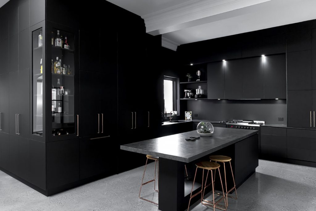 Get the look: a divinely dark kitchen