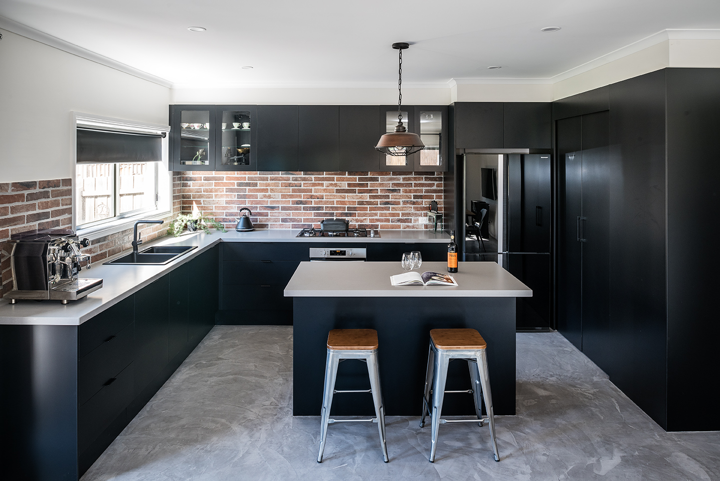This gorgeous industrial kitchen is a family affair