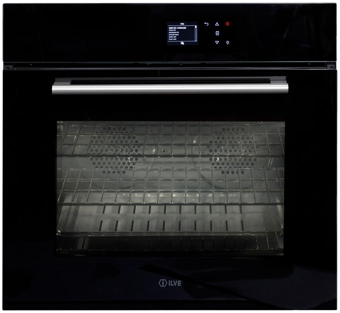 Industrial Ilve Built In Oven Black Glass