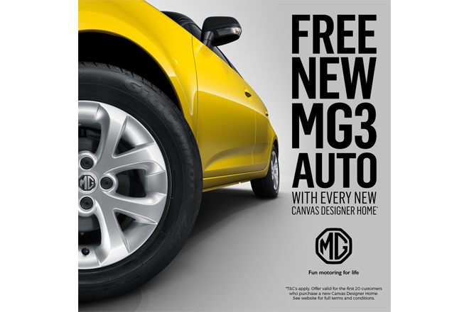 Your last chance to secure your FREE MG3 with the purchase of a CANVAS Series by Privium Homes is this weekend!