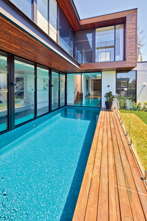 This space-saving modern pool is the perfect partner to this inner-west home