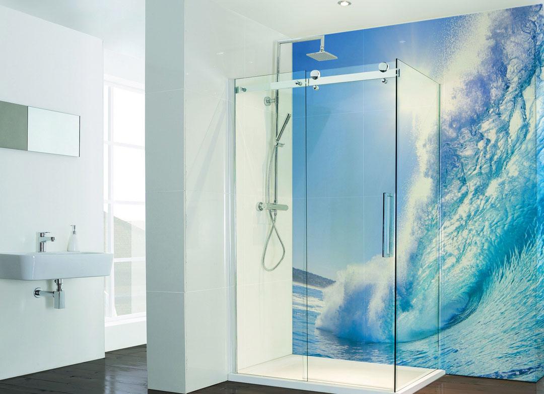 Decospash Bathroom Shower Splashback Wipeout Design