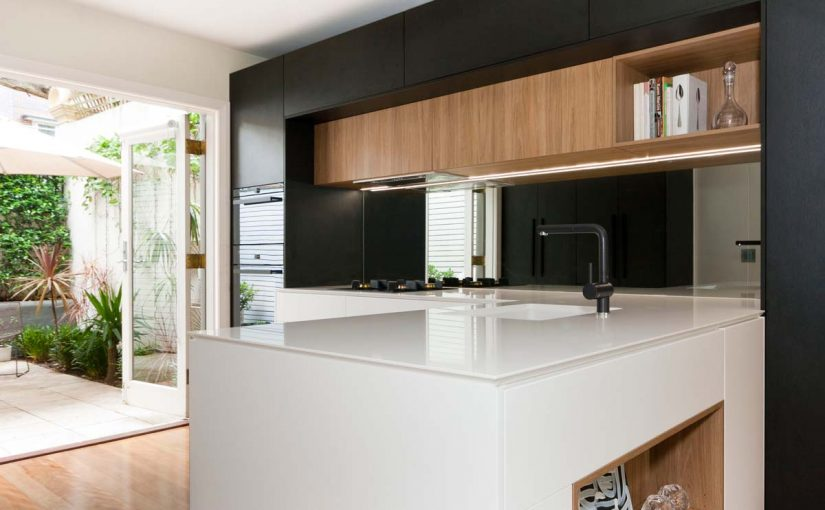 Modern luxury in this monochrome kitchen