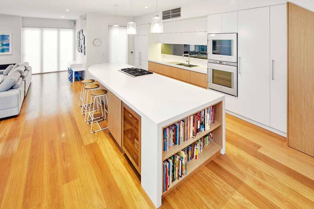 This modern kitchen is the centrepiece of the home