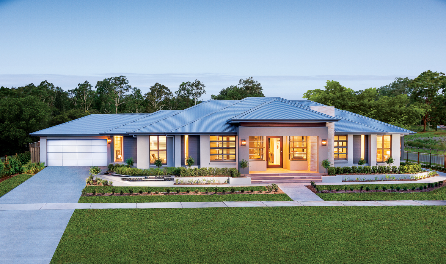 This contemporary ranch style home is perfect for any growing family