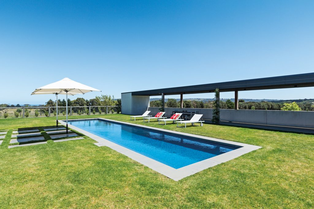This spectacular Mornington Peninsula pool boasts incredible views