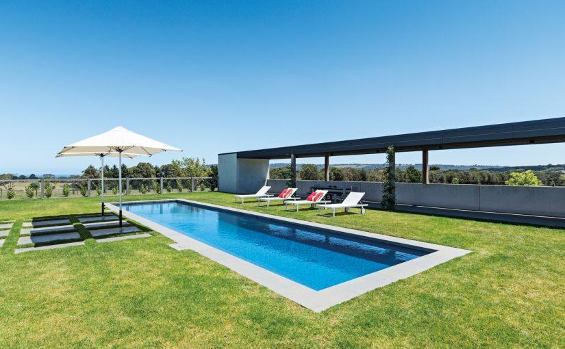 This spectacular Mornington Peninsula pool boasts incredible views