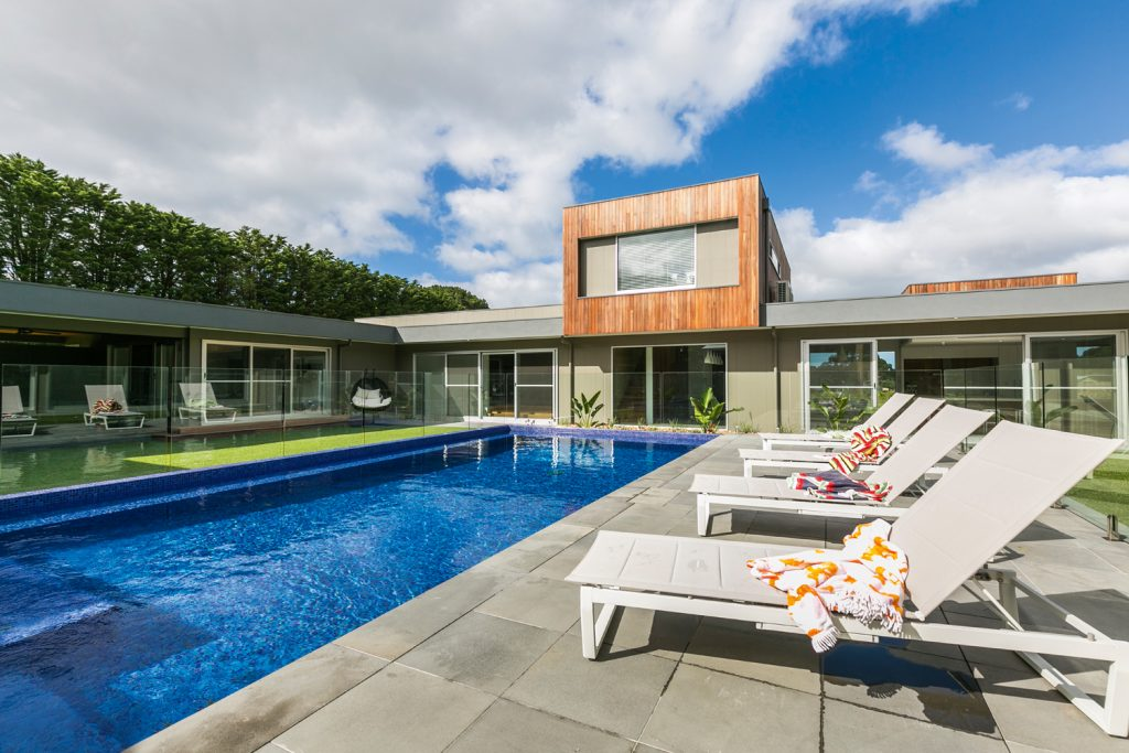 This incredible bluestone paved pool is the perfect relaxing getaway