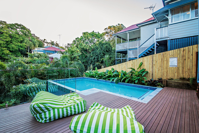 This award-winning inner Brisbane landscape is perfect for entertaining