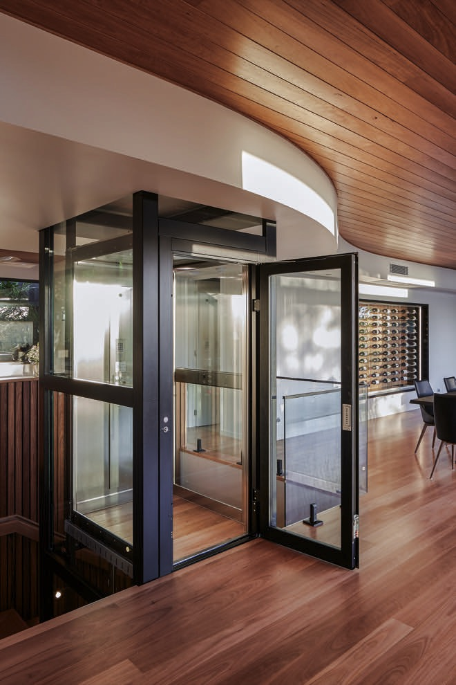 This Currumbin copper house is curved excellence