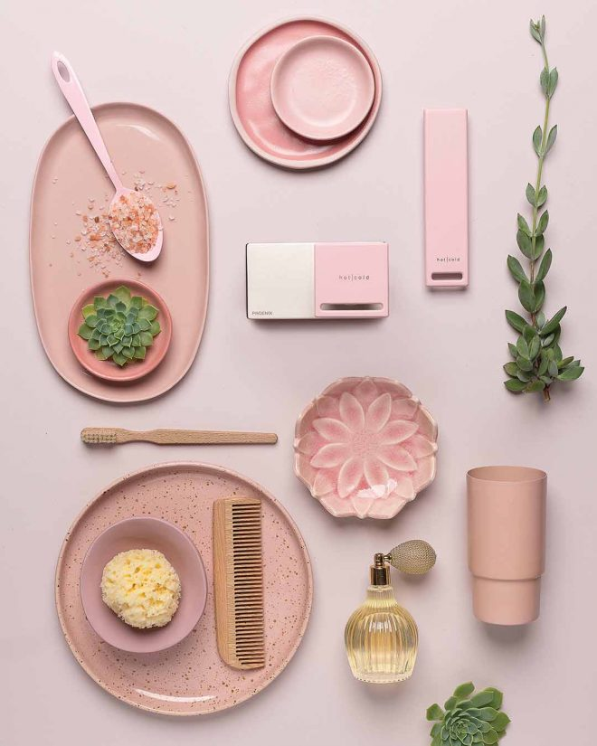 Zimi Mood Board Blush Pink Handle
