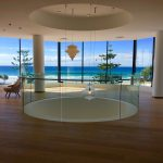 Curved glass pool fencing and curved glass balustrades