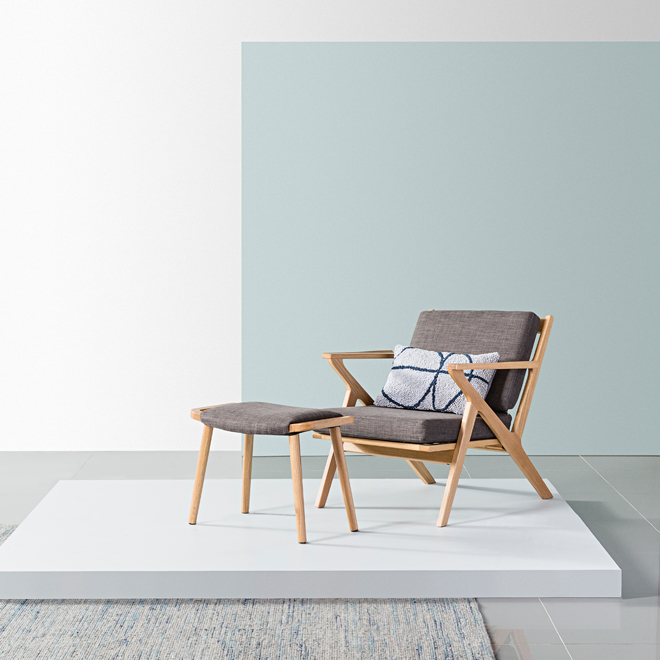 Plank Armchair And Franz Footrest