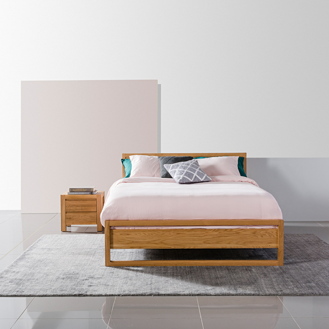 Bruno Bed And Anya Bedside Tables