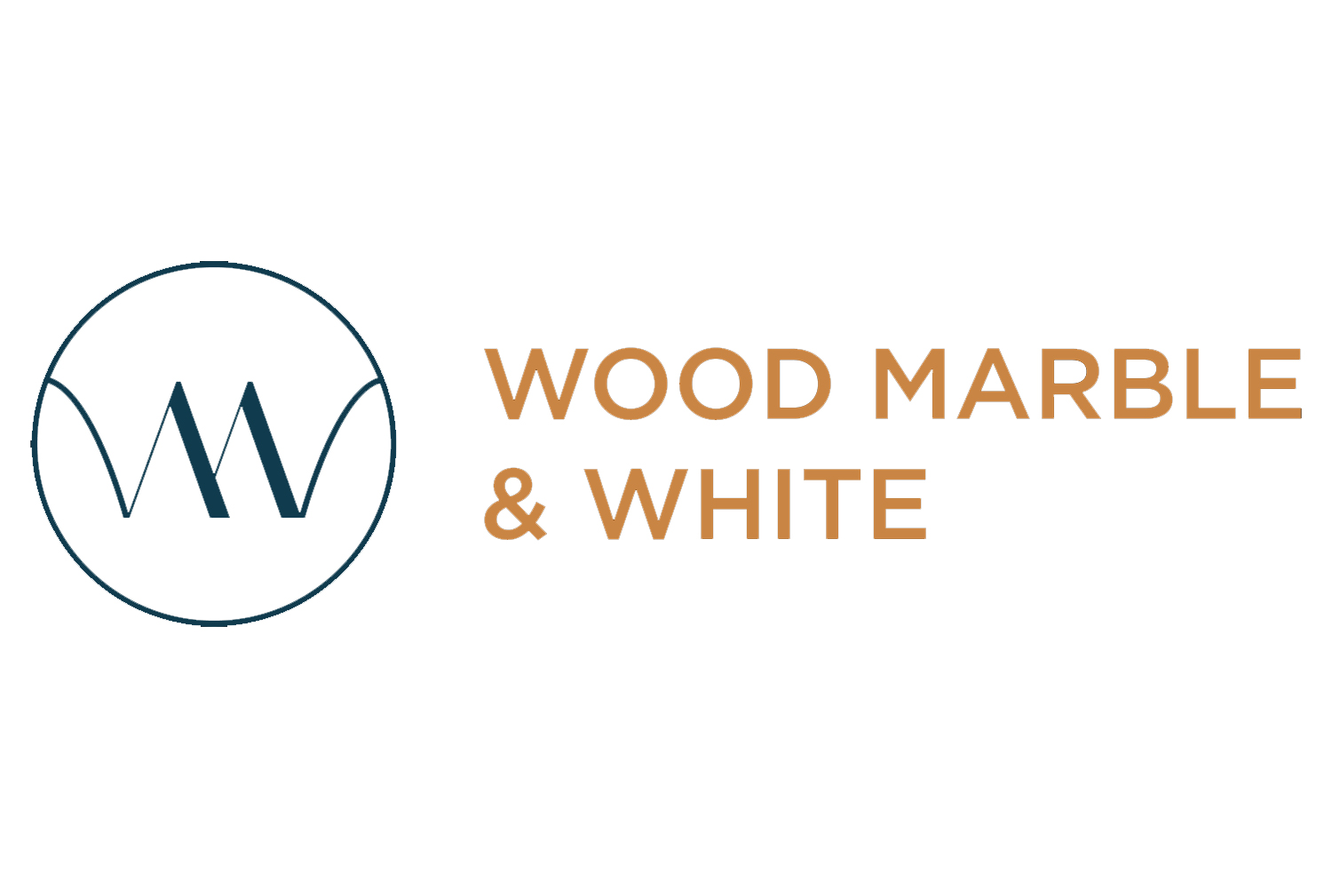 Wood Marble & White Logo