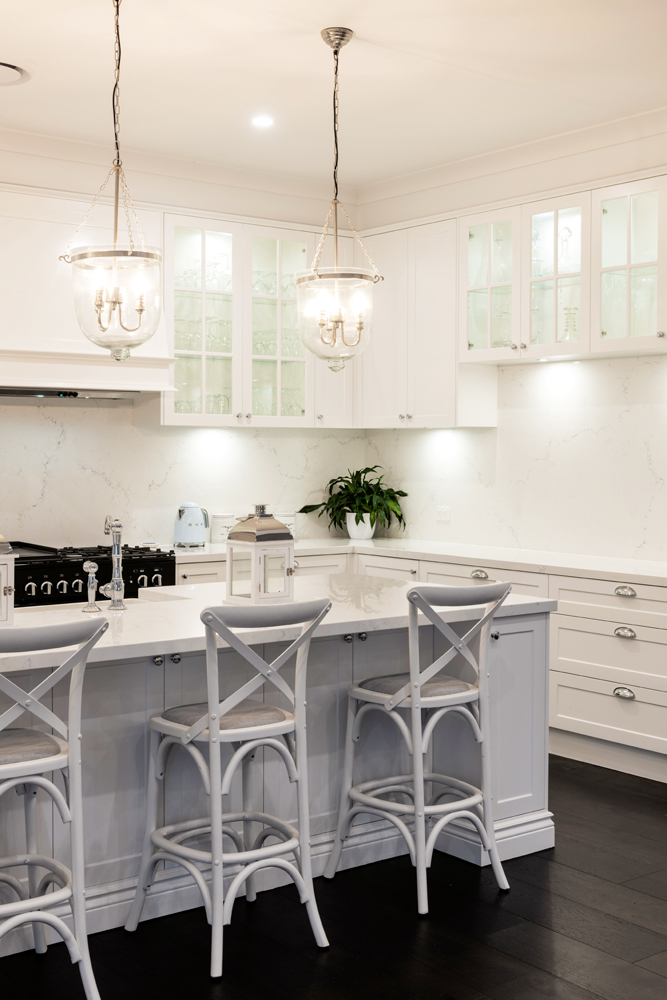 Location, location: a Hamptons-style kitchen